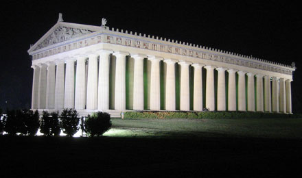 Parthenon at Night in Nashville, Tennessee